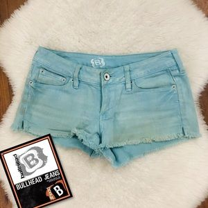 PACSUN Bullhead Distressed Sea Green Cheeky Shorts